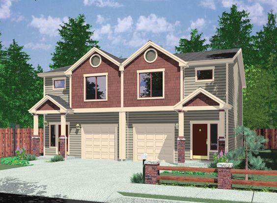 Duplex roof challenges and best practices of duplex for Fourplex plans with garage
